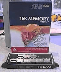 Atari memory cartridge